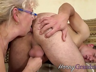 Granny huge-chested hard cock