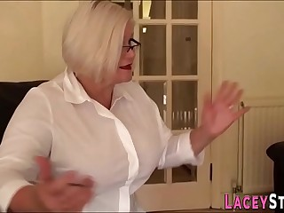 Pounded gran throats and titfucks