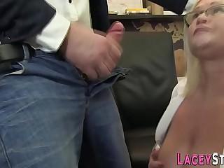 Grannys fat ass nailed