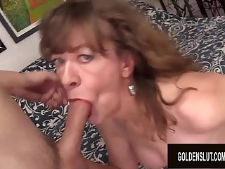 Horny GILF Babe Morgan Cannot Resist the Desire for Hard Cock