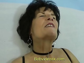 Eliane 71 years ass nailed by a young black