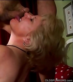Buxom old blonde spunker is a super hot fuck &amp_ loves a sticky facial