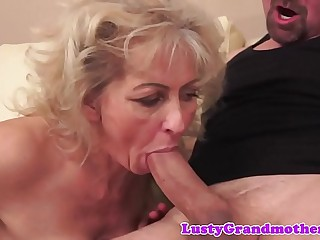 Dicksucking grandma pussy smashed from behind