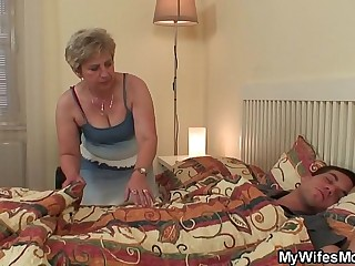 Mother in law forces him doggyfucks her