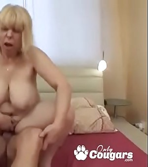 Fat Old Granny Makes A Dick Jizz With Her Asshole