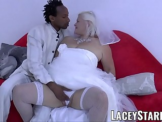 LACEYSTARR  Granny bride fed with cum after BBC nailing