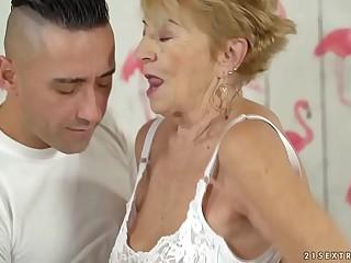 Nasty granny loves hardcore fuck  Malya and Mugur