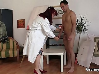 Horny mature woman gets naked
