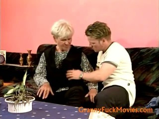 Granny seduced a teen boy