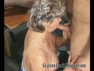 Granny party with a lot of sensitive