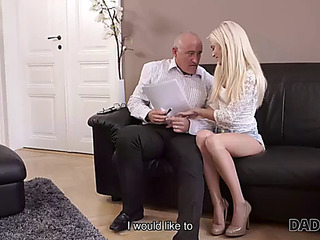 Daddy4k.fearsome aged businessman cums in blonde&#39s face hole to finish hawt sex