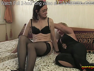 Sapphic grannies nonprofessional assfuck fake penis penetration with oil