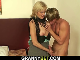 Mind-blowing granny games with slim old hooker