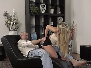 Old4k.fearsome spontaneous sex of father and ash-blonde begins with wonderful oraljob