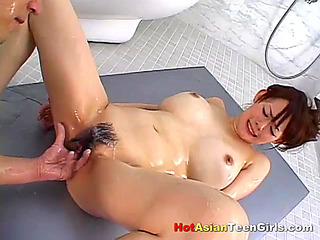 Clamp Pornography HD Oriental Schoolgirl gratified by her Aged Lover