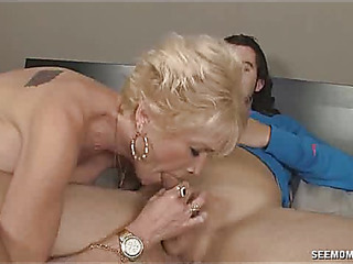 Older light-haired nikki sixxx sucks juvenile stud