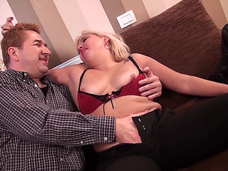 Older blond from the Holland is absolutely glad to acquire groupfucked hard