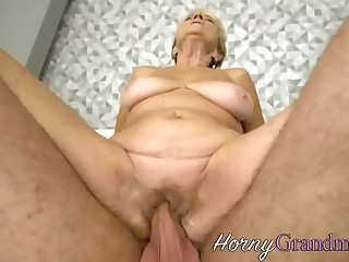 Fat grandma gets fingered and fucked