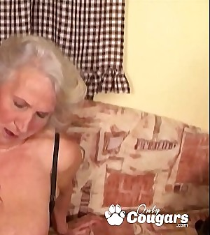 Granny Spreads Her Saggy Old Pussy For A Lucky Youthfull Man