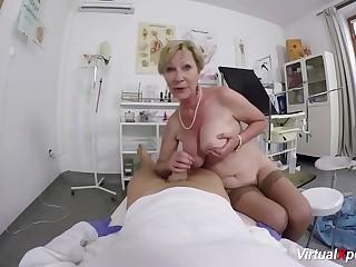 big boob hairy grandma fucked by her doctor