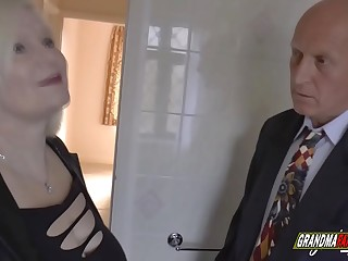grandma fucks the real estate agent