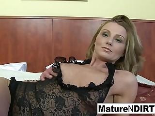 Blonde mature gets interracial anal and a facial cumshot