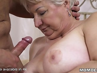 Rob'_s Happiest Day as Super Horny GILF Astrid jumps in Bed with Him