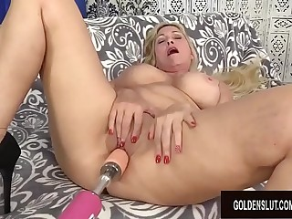 Orgasmic Machine Sex with Busty Blond GILF Cala Craves