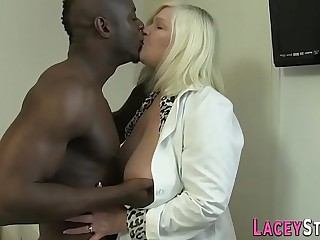 Granny enjoys anal with a big dark-hued cock