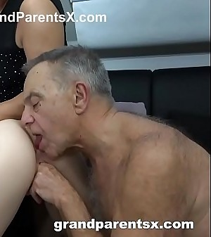 Old Couple Teaches Teen Maid How to Fuck