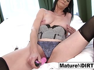 Brunette mature in underwear is anally satisfied by BBC