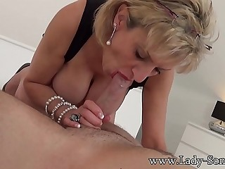 Lady Sonia providing a sensual handjob and blowjob