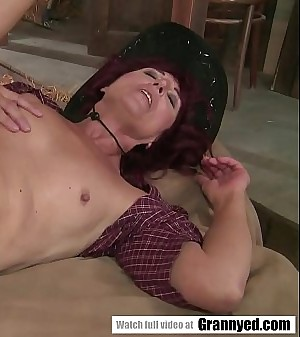 Old country lady fucks in the barn