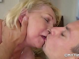 Phat blonde grandma fucked hard