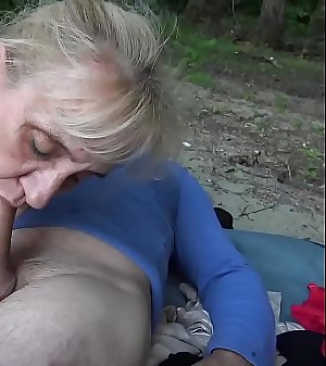harassment horny 86 years old granny tough outdoor ravaged