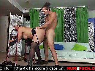 Buxomy and naughty granny Kelly Leigh still like cock