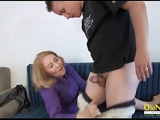 OldNannY Grandma Hardcore Handjob with Partner