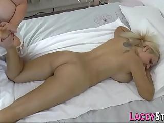 Massaging grandma tongues