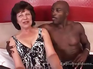 Big black cock fucking sexy big ass brunette granny