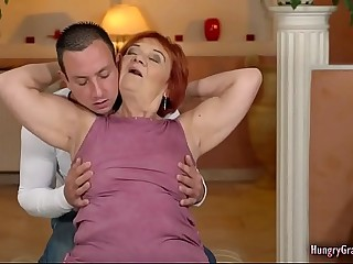 Redhead Granny Nails Truly Hard With a Hard Cock