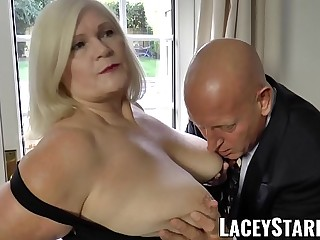 LACEYSTARR  Naughtiest grandma analled before cumshot
