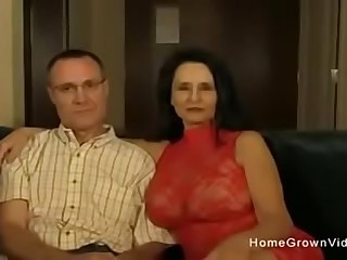 Hot amateur granny sucking and fucking a junior man  More videos visit